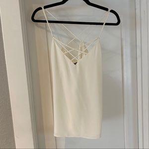 Express white strappy cami